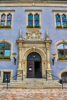 Schönebeck, Germany - June 20, 2020 - portal at the old town hall