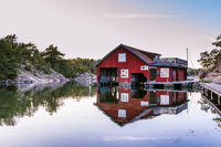 Red cottage island Harstena in Sweden