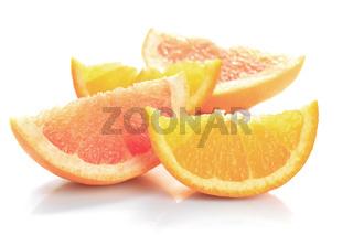 grapefruit and orange