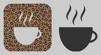 Stencil Mosaic Coffee Cup of Coffee Grain