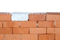a wall with bricks