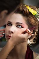 Portrait of a beautiful woman in beauty salon