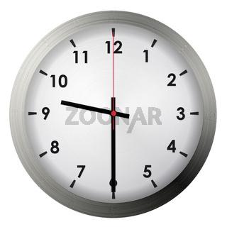 Analog metal wall clock