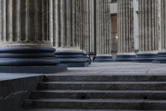 classical Corinthian colonnade