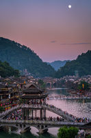 Xueqiao Snow Bridge in Feng huang seen at dusk