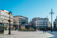 The Puerta del Sol square in Central Madrid