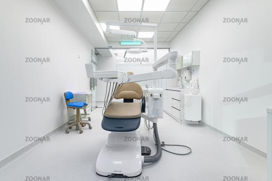 Interior of dentistry medical office, special equipment