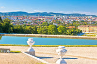 Vienna cityscape from Gloriette viewpoint above Schlossberg castle view