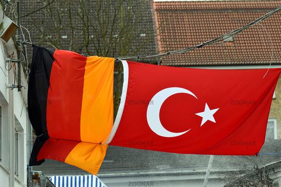 German and Turkish National Flag