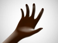 Brown open palm offering something. Concept of charity, care and online support.