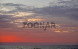 Textur Sonnenuntergang Himmel am Meer