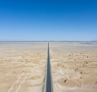 straight road through the wind erosion physiognomy in qinghai