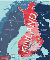 Finland country detailed editable map