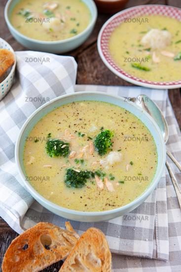 Broccoli cauliflower soup