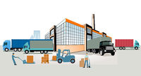 Forwarding logistics industry, shipping and delivery