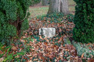 altes grab auf dem friedhof in langenfeld