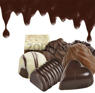 Chocolate Candies On White Background