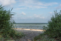 Atmospheric view of the Baltic Sea on a wonderful summer day