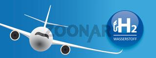 H2 Wasserstoff Flights Jet Header
