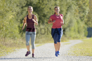 Frauen beim Joggen