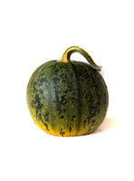 Green pumpkin isolated on white background