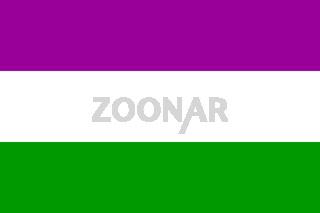 Suffragette flag symbol