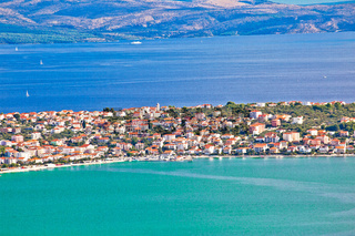 Ciovo island. Okrug gornji village in Trogir riviera view from the hill