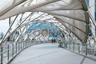 The Helix Bridge in Singapore
