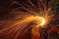 Grinder sparks