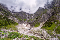 Blick auf die Eiskapelle im Berchtesgadener Land