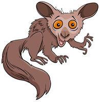 funny aye-aye cartoon wild animal character