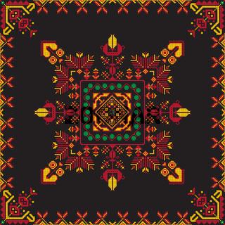 Romanian traditional pattern 221