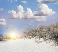 Desert Sunset in the White Sands National Monument in Alamogordo, New Mexico.