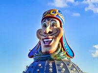 Amusement Park Head Sculpture, Montevideo, Uruguay