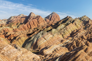 colorful mountains in zhangye
