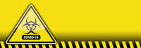 Yellow Coronavirus COVID-19 Bio-hazard Warning Sign Banner