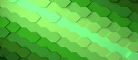 Abstract gradient green honeycomb background