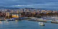 Barcelona in the evening