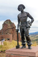 CCC Worker Statue, Red Rocks Park