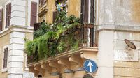 Balcony with flowers in ROme