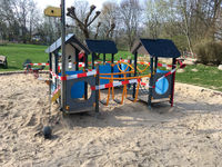 ESCHBORN, GERMANY - March 20 2020: A children's playground closed due to anti-corona measures
