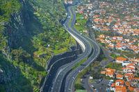 highway Madeira transport aerial road