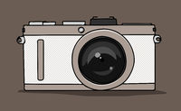 stylish camera symbol