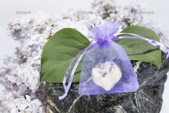 Bodybutterhearts in front of a stone