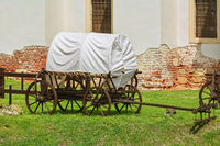 Covered Wagon in the Courtyard