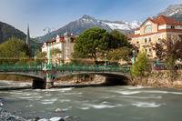 At Passer river in Meran, South Tyrol