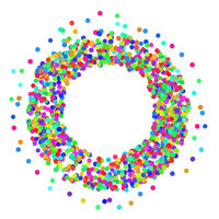 Colorful Confetti Frame Icon Isolated on White Background