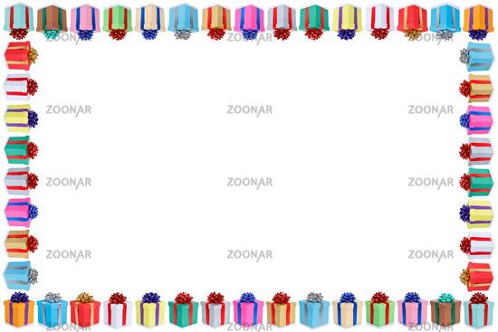 Weihnachten Geschenke Geburtstag Textfreiraum Copyspace Rahmen Hochzeit Weihnachtsgeschenke Karte schenken