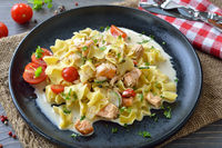 Austrian pasta with smoked salmon
