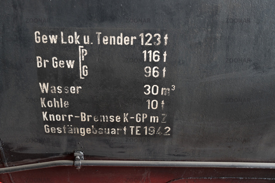 Details of a steam locomotive